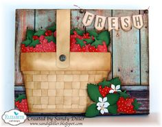 Hi and welcome, it's Sandy Diller here to show you how I made this mixed media Berry Basket.This reminds meof our trips to theFarmer's Market duringthe summer months to pick out the freshest fruits and vegetables.  1. Using the Banners Die Set cut 5 banner pieces, manila cardstock was used here. 2. Using the... Continue reading →