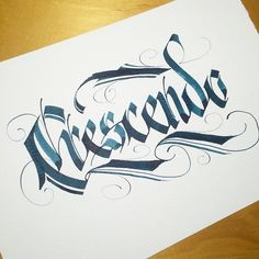 Crescendo. #makedaily #calligraphy #calligraffiti #calligritype…