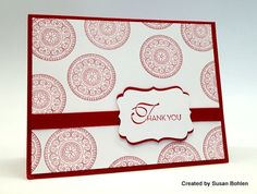 CAS...single stamp, layering the sentiment...the red and white are striking  but any color would work!