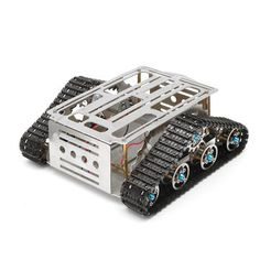 Smart Robot Tank Tracked Car Chassis Kit DIY Stainless Aluminum Alloy Vehicle