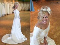 Designer Caroline Devillo Couture  Original Price: $2,700  The Brides Project Price: $500  Size 10