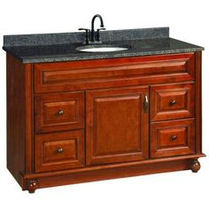 Design House Montclair 48 in. W x 21 in. D Vanity Cabinet Only in Chestnut Glaze-538561 at The Home Depot