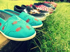 Awesome hand-painted and personalized shoes! :)