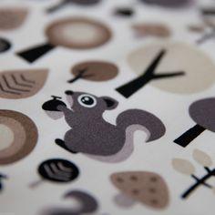 Baumwollstoff Eichhörnchen Natur Braun Beige Kinderstoff 100% Baumwolle Tieren | eBay