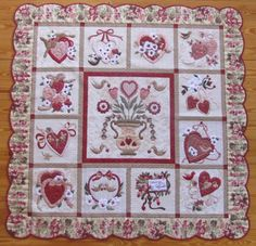 Sometimes the projects that seem the hardest turn out to be the best ones. Look at this Vintage Valentine's quilt Annie completed after working on it for many years. What a stunner. Truly incredible.