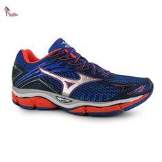 Mizuno Wave Enigma 6Chaussures de course à pied pour femme Bleu/cor Baskets Sneakers Chaussures de sports, Blue/Coral - Chaussures mizuno (*Partner-Link)
