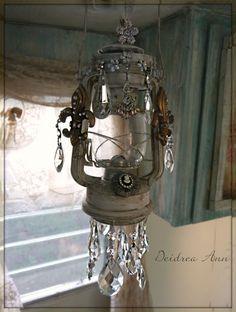 Embellished Altered Lantern Light