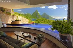 View From Jade Mountain Resort in St. Lucia. This was one of my favorite trips I took. Although I did not take this picture. Wish I did ;)