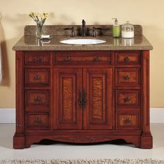 Contemporary Art Sites  Manchester Vanity Undermount Sink Faucet Holes Polished Royal Mahogany