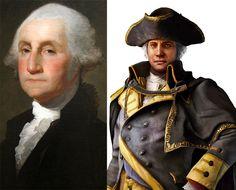 George Washington http://www.animasan.com.br/personagens-historicos-da-franquia-de-games-assassins-creed-parte-iii-assassins-creed-ii/