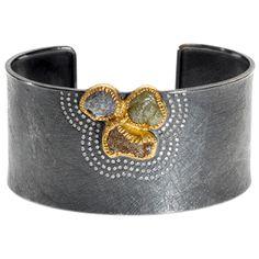 Todd Reed cuff with raw diamonds Jewelry Art, Silver Jewelry, Fine Jewelry, Jewelry Design, Silver Cuff, Sterling Silver, Metal Bracelets, Bangle Bracelets, Statement Bracelets