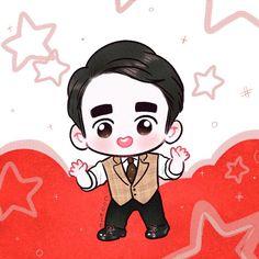 Do Kyungsoo Chibi Fanart by : Cookie Kyungsoo, Exo Cartoon, Exo Anime, Exo Fan Art, Kpop Drawings, Digital Painting Tutorials, Bts Chibi, Kid Movies, Kpop Fanart