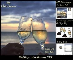 Tying The Knot 16   Weddings   Handfastings   3D Decoupage   Matching Insert   Tag  on Craftsuprint - View Now!
