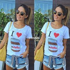 T-shirt Feminina Nutella