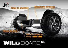"""Wildboard XL è il veicolo elettrico dallo spirito selvaggio.  Ruote da 8.5"""" resistente all'acqua  telaio in alluminio e app di supporto. Board to be wild! #moveyourfun #boardtobewild #veicolielettrici #twodotstechnology #fun #future #futuro #vehicle #electricvehicle #italia #happy #italy by twodotstechnology"""