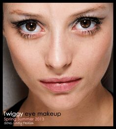 soullovelyfashion:  Twiggy  eye  Makeup Trend for Spring Summer 2013. Kristina Ti Spring Summer 2013. More Makeup Trends for Spring Summer 2013. Nov 10th, 10:15 PM GMT.