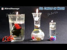 How To Make A Water Candle - DIY Burning Water Candle - YouTube