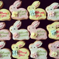 Adorable bunny Thank You cookies