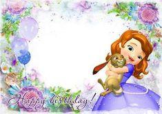 image title Princess Sofia Invitations, Princess Sofia Birthday, Sofia The First Birthday Party, Birthday Invitations, Diy Party Frame, Photo Frames For Kids, Princesa Sophia, Invitation Layout, Minnie Mouse Christmas