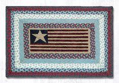 PP-015 Flag Print Patch Rug