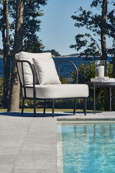 Sunbrella® garden armchair with armrests SALTÖ Outdoor Sofa, Outdoor Furniture, Outdoor Decor, Driftwood Frame, Sea Holly, Matilda, Armchair, Lounge, Landscape