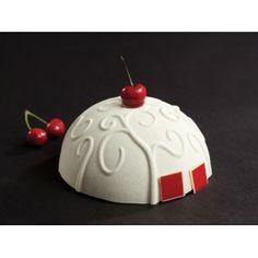 Moule demi-sphère décoré Pavoni  A Karsenty