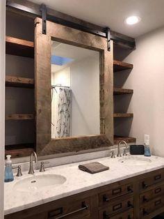 Ideas For Diy Bathroom Renovation Simple Diy Remodel, Bathroom Mirror, Modern Bathroom, Diy Bathroom Remodel, Bathroom Renovations, Modern Farmhouse Bathroom, Bathroom Renovation Diy, Bathrooms Remodel, Bathroom Design