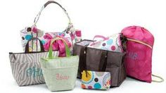 embroidery ideas-sayings for every bag! Another awesome site: http://itsinthebagfisher.blogspot.com/2012/06/personalization-ideas.html