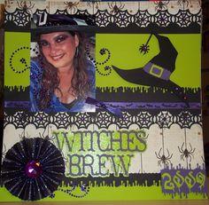 Witch Brew 2009 layout - Scrapbook.com