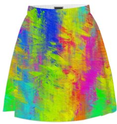 Rainbow watercolors skirt