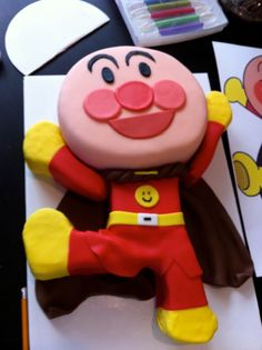 Anpanman balloons mascots pinterest terrace and balloons for Anpanman cake decoration