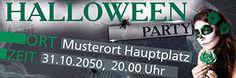 Bedruckte Banner jetzt günstig online kaufen. #bannervorlage #festdesign #bannerlayout #bannerstyle #halloweenparty #sugar #skull