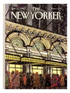 Roxie Munroe  The New Yorker Cover - January 18, 1988 Premium Giclee Print