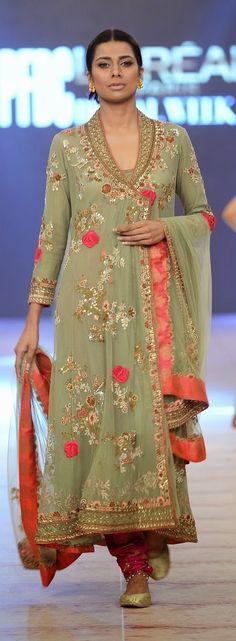 Pinterest: @Littlehub    คdamant love on Anarkali's ✿。。ღ    Misha Lakhani suit