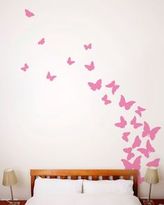 Butterfly Wall Decal Pink   Butterfly Wall Decals