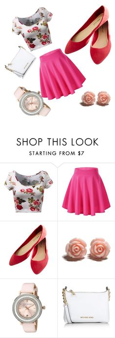 """Cutie Pie"" by emojiqveen on Polyvore featuring Wet Seal, Ted Baker, Michael Kors, women's clothing, women, female, woman, misses and juniors"