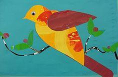 Deep Space Sparkle – Bird Art Project using paper scraps