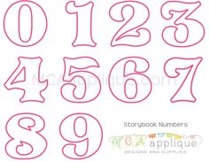 MCA Storybook Numbers - available in 0-9