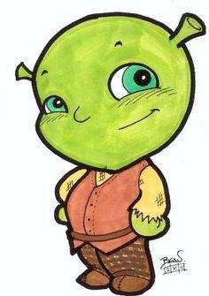 Chibi Shrek by Beau Schemery [©2007-2014 hebronstudios]