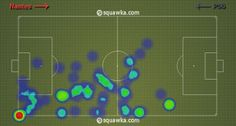 Lavazzi's heat map: He drifted to the middle a lot, Maxwell used the space as a result