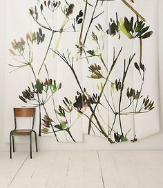 where is my paintbrush??  Walls, Windows & Floors: Brushstroke Branches Mural at Anthropologie : Remodelista