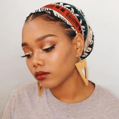 You guys asked and I delivered! You wanted a tutorial for how I wrap my head wra… You guys asked and I delivered! You wanted a tutorial for how I wrap my head wraps well it is now live! Link in bio! Protective Hairstyles, Protective Styles, Natural Hair Care, Natural Hair Styles, Headwraps For Natural Hair, Styling Natural Hair, Natural Hair Headbands, Natural Makeup, Mode Turban