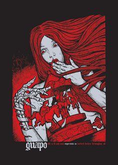 poster; silkscreen; Malleus Rock Art Lab - Guapo