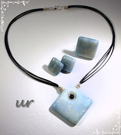Ice squares - polymer clay