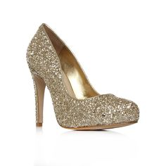 Antibes, gold shoe by Carvela