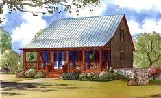 Cabin House Plans, Best House Plans, Small House Plans, House Floor Plans, Square House Plans, Wooden House Plans, Cottage House Plans, Cottage Homes, Craftsman Cottage