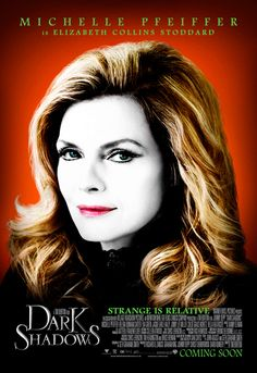 Michelle Pfeiffer in a poster of Dark Shadows by Tim Burton Michelle Pfeiffer, Film Tim Burton, Tim Burton Characters, Cartoon Characters, Fast And Furious, Barnabas Collins, Dark Shadows Movie, Jackie Earle Haley, The Lone Ranger