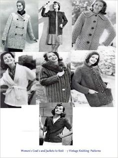 Women's Coats and Jackets to Knit - A Collection of Vintage Knitting Patterns featuring Coats and Jackets for Woman in Size 10 to 20 - Kindle edition by Bookdrawer. Crafts, Hobbies & Home Kindle eBooks @ Amazon.com.