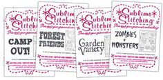The best embroidery patterns!  Not your grandma's embroidery! One day i will be able to get some!
