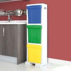 Contenedor - papelera para la recogida selectiva en entornos domésticos